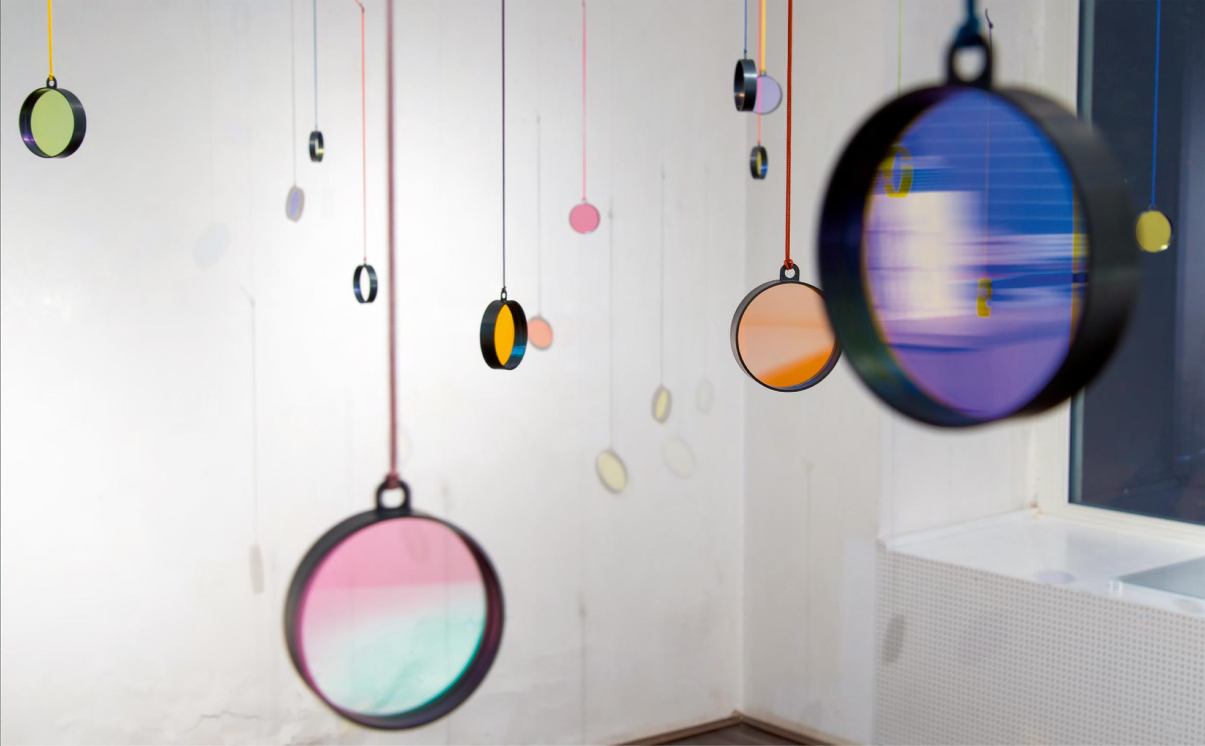 Bi Pendant Jiro Kamata lens lenses arnoldche voices installation exhibition