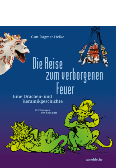 arnoldsche Feuer Drachen Keramik Porzellan Kinderbuch Geschichte Fire Dragon Porcelain Children